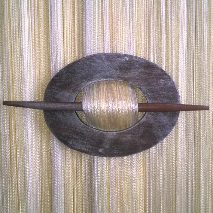 Заколка для штор арт. 2315 col Коричневый-Серебро