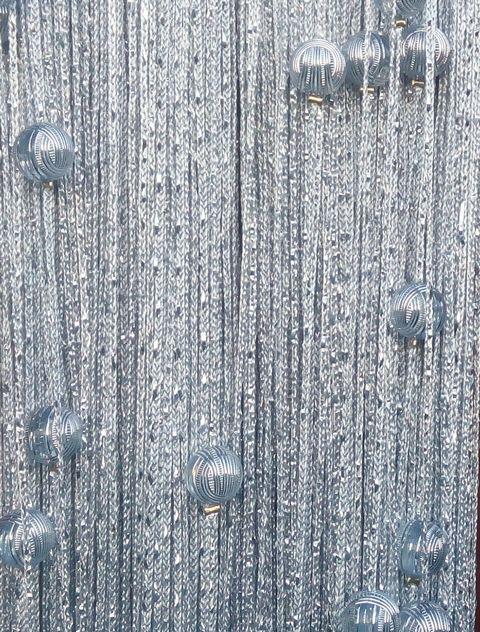 Кисея Дождь однотонная с шарами col 7