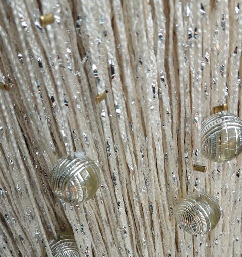 Кисея Дождь однотонный с шарами col 203-3