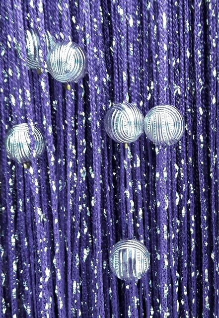 Кисея Дождь однотонный с шарами col 205-2
