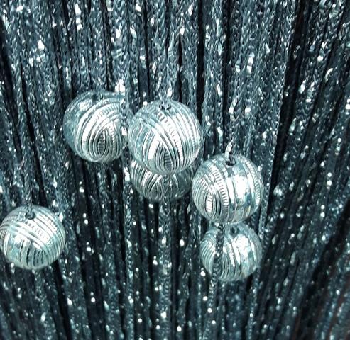 Кисея Дождь однотонный с шарами col 207