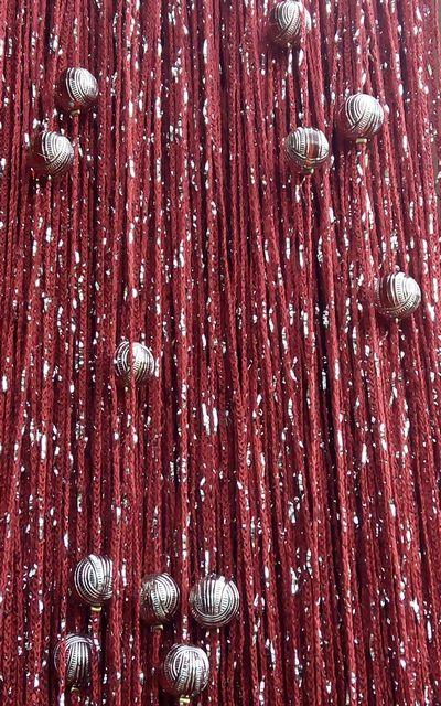 Кисея Дождь однотонный с шарами col 4