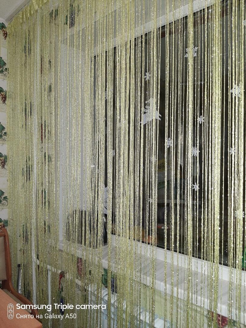 Кисея Дождь однотонный col 206 в интерьере 2