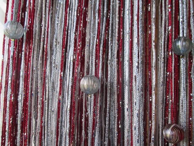 Кисея Дождь радуга с шарами col 1+4+7