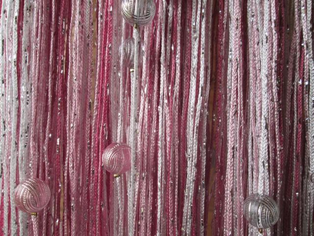 Кисея Дождь радуга с шарами col 1+5+6