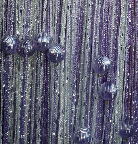 Кисея Дождь радуга с шарами col 1+12