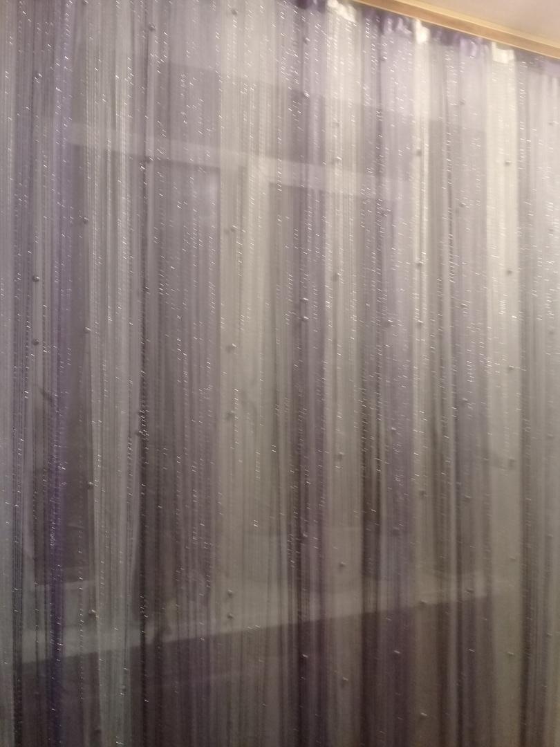Кисея Дождь радуга с шарами col 1+12+205 в интерьере 5