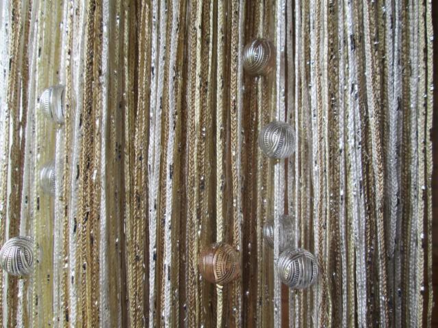 Кисея Дождь радуга с шарами col 123