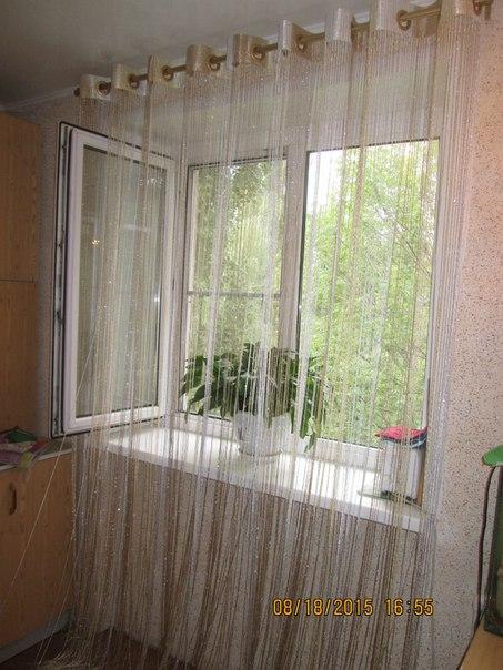 Кисея Дождь радуга col 123 в интерьере 1