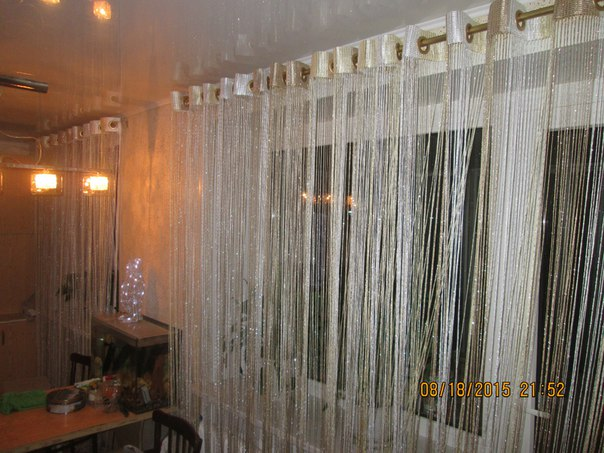 Кисея Дождь радуга col 123 в интерьере 2