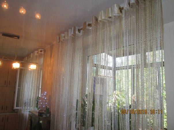 Кисея Дождь радуга col 123 в интерьере