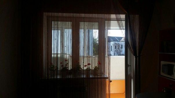 Кисея Однотонная с кубиками col 208 в интерьере