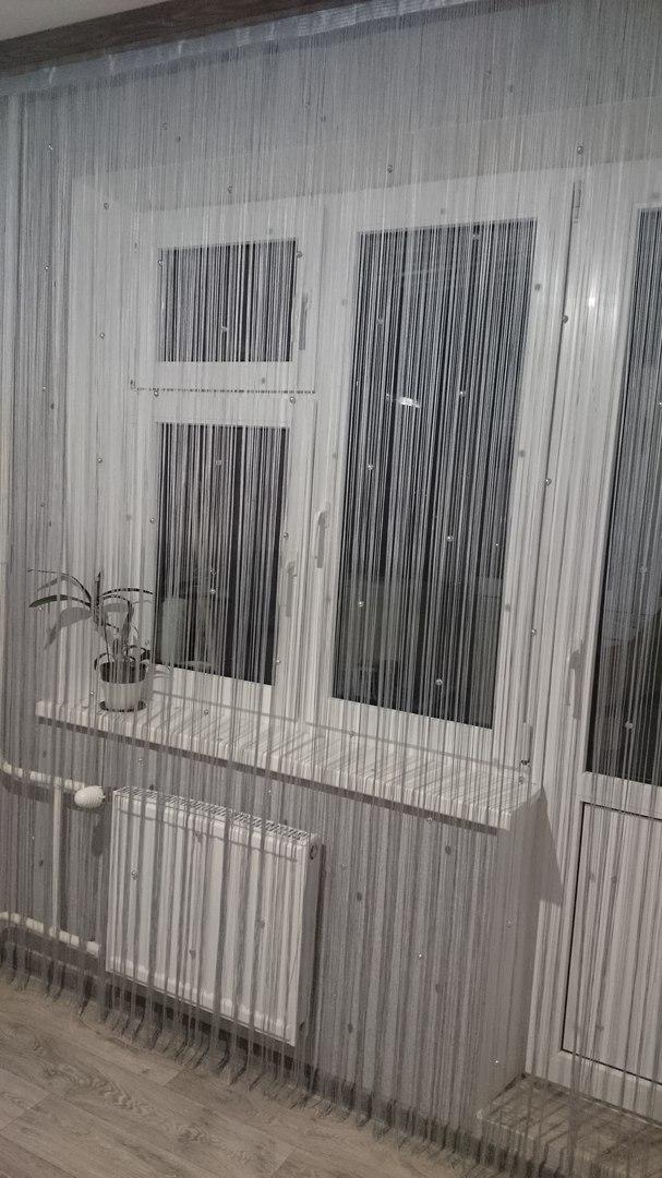 Кисея Однотонная с шарами col 7 в интерьере 1