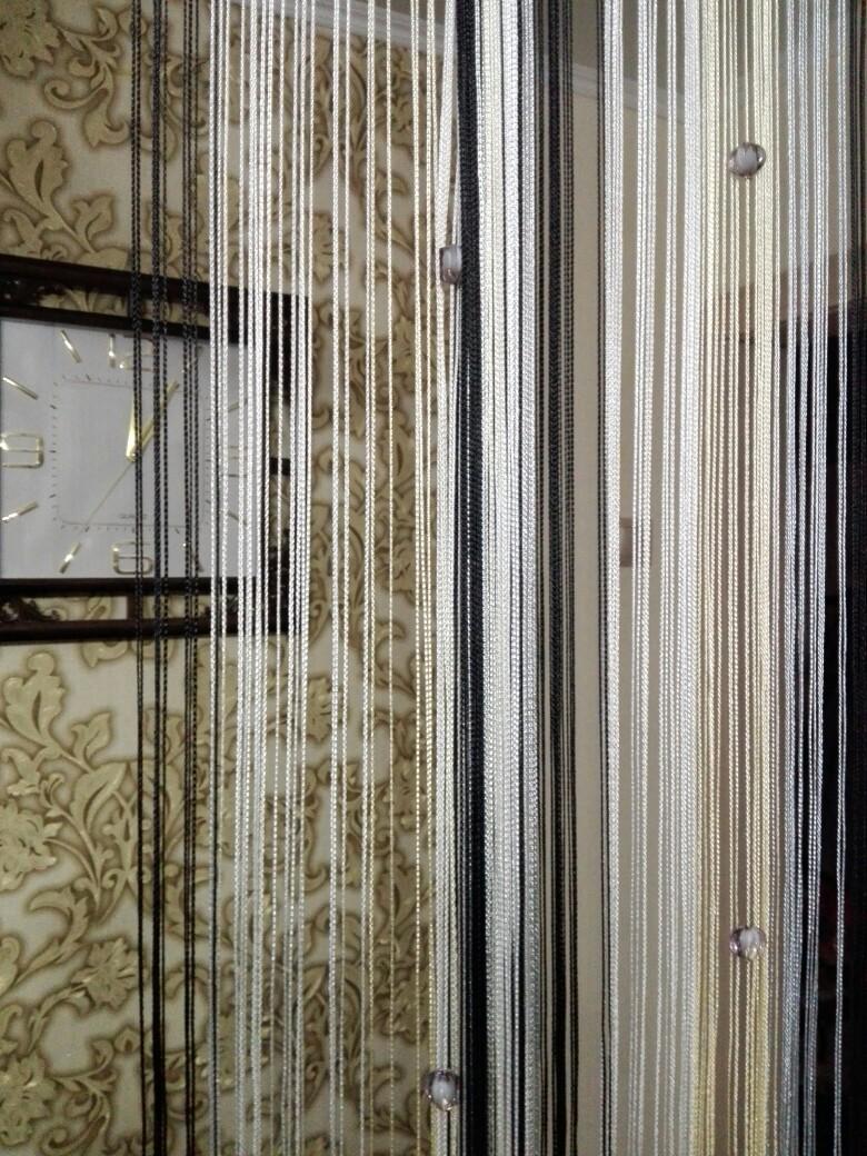 Кисея Радуга с ромбами col 101 в интерьере 2