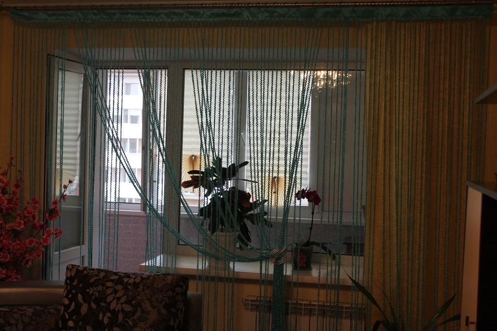 Кисея Спираль Однотонная col 201 в интерьере 3