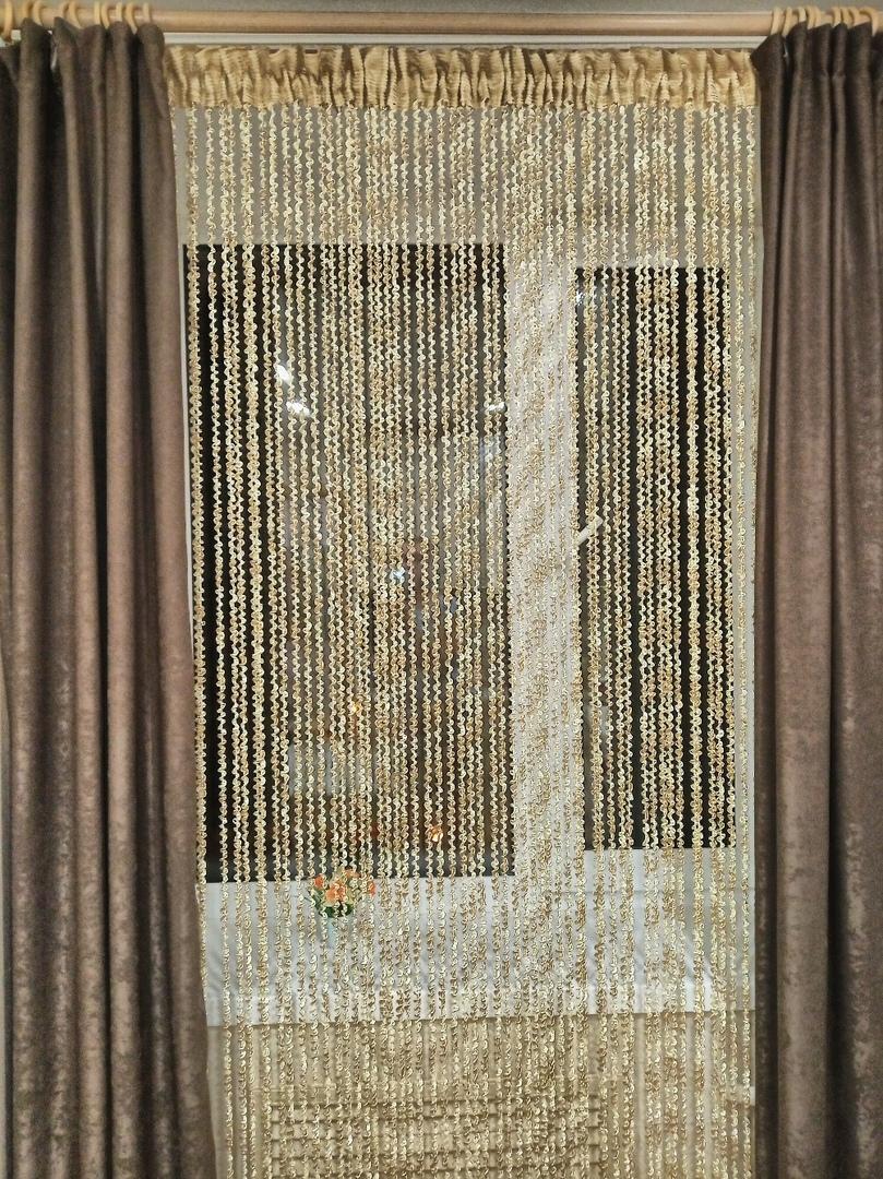 Кисея Спираль радуга col 13+14 в интерьере 6