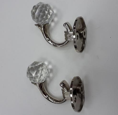 Крючки для подхватов S-0803 серебро