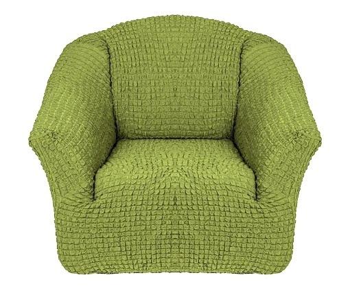 Чехол на кресло без оборки фисташковый