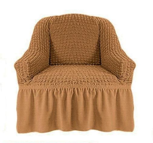Чехол на кресло горчичный