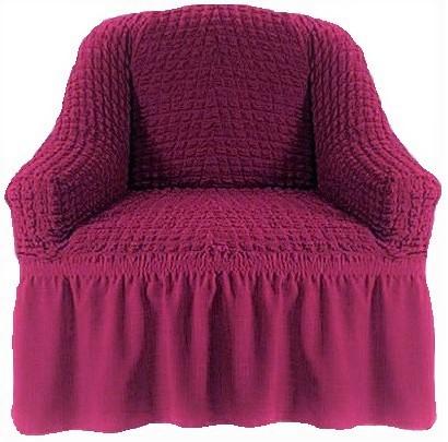 Чехол на кресло малиновый
