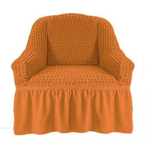 Чехол на кресло рыжий