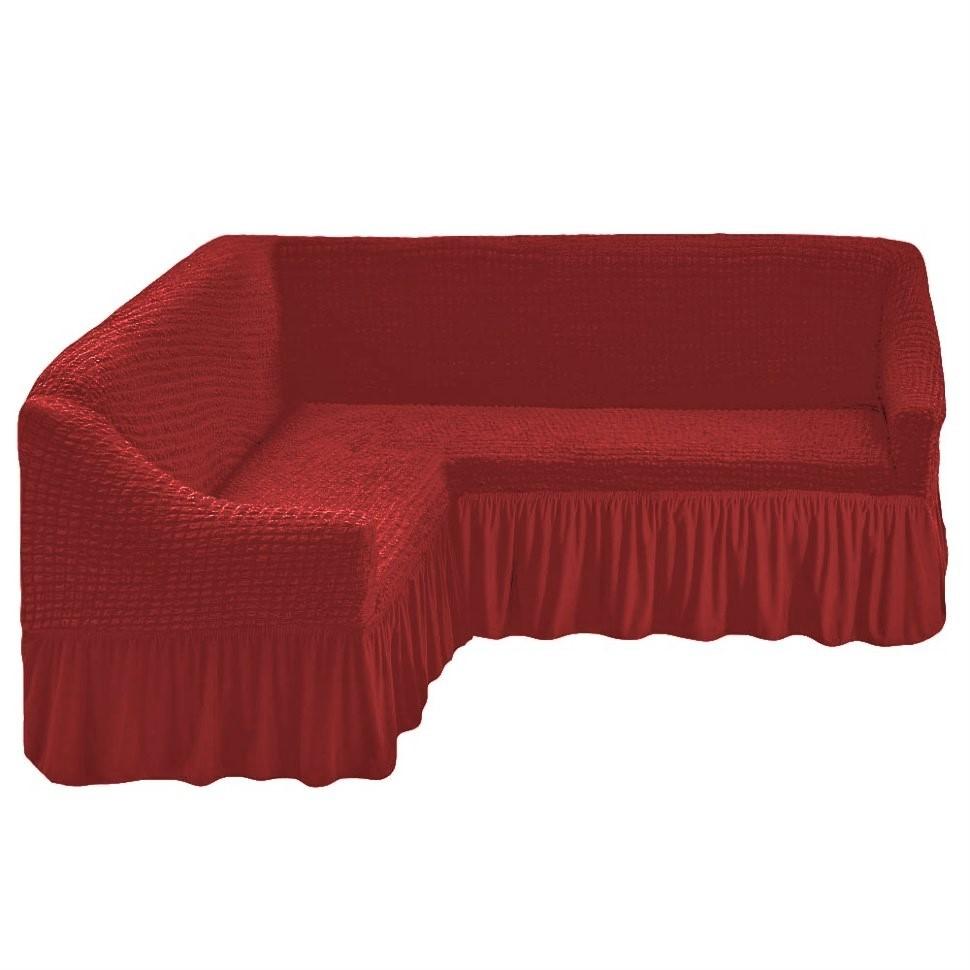 Чехол на угловой диван кирпичный