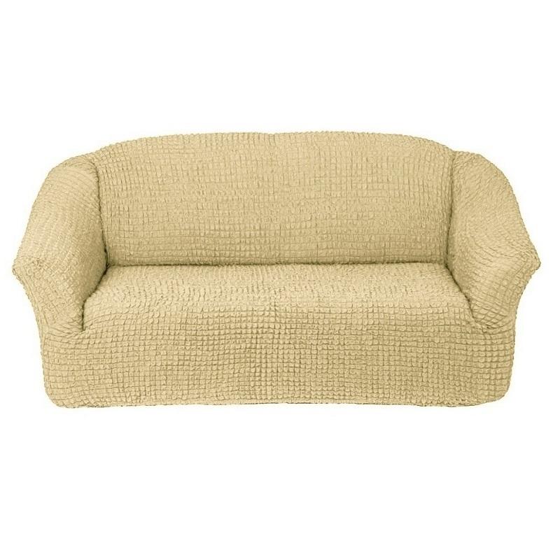Чехол на 3-х местный диван без оборки бежевый