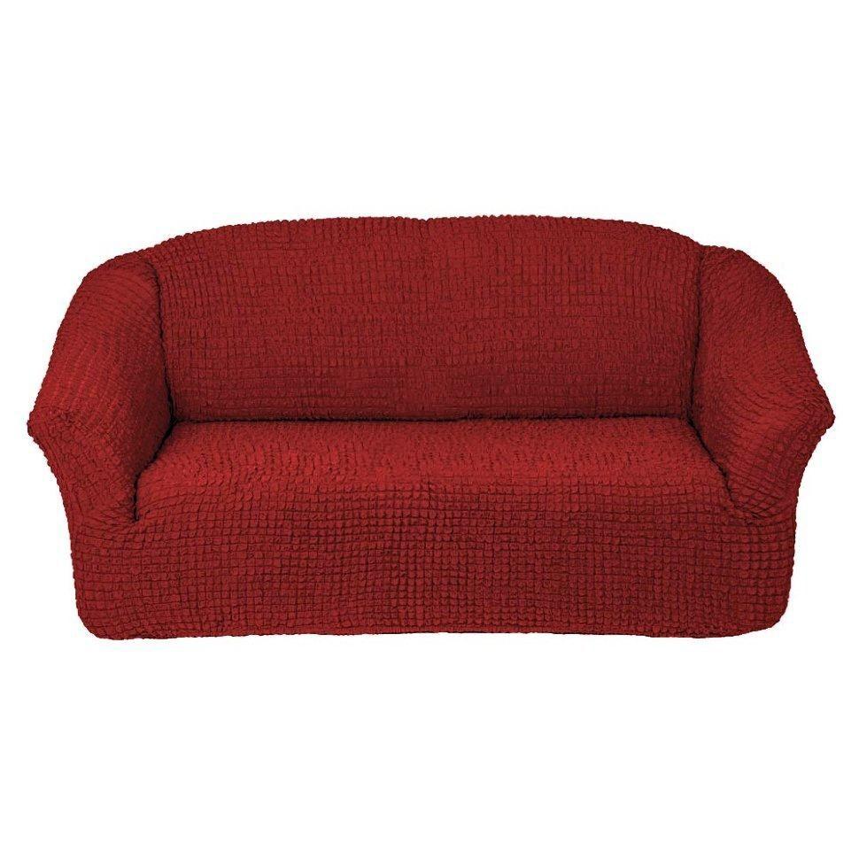 Чехол на 3-х местный диван без оборки бордо