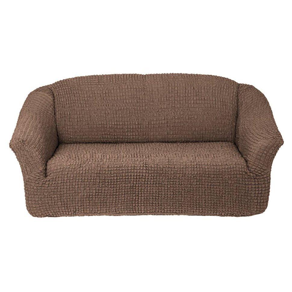 Чехол на 3-х местный диван без оборки капучино