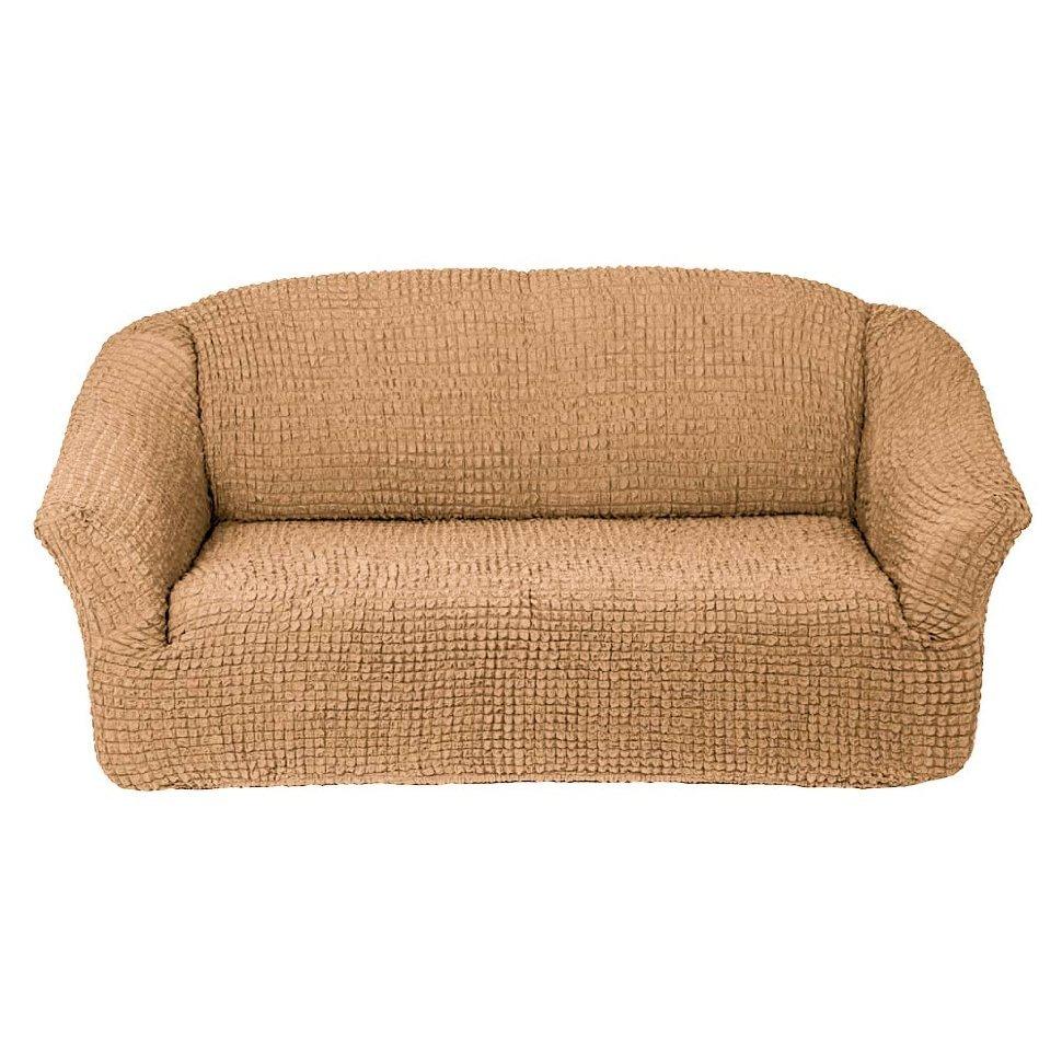 Чехол на 3-х местный диван без оборки песочный
