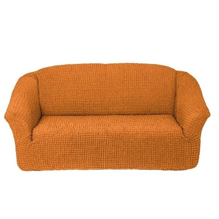 Чехол на 3-х местный диван без оборки рыжий