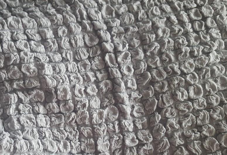 Чехол на 3-х местный диван без подлокотников серый 1