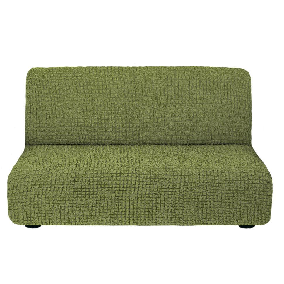 Чехол на 3-х местный диван без подлокотников фисташковый