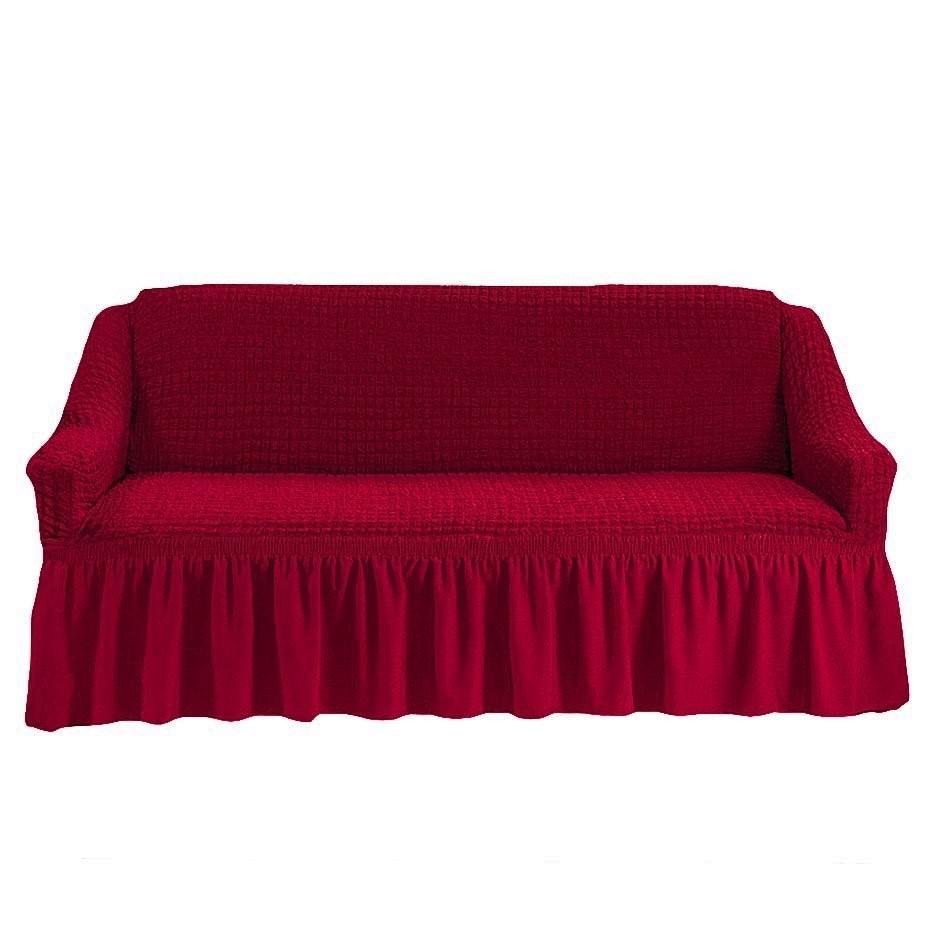 Чехол на 3-х местный диван бордо