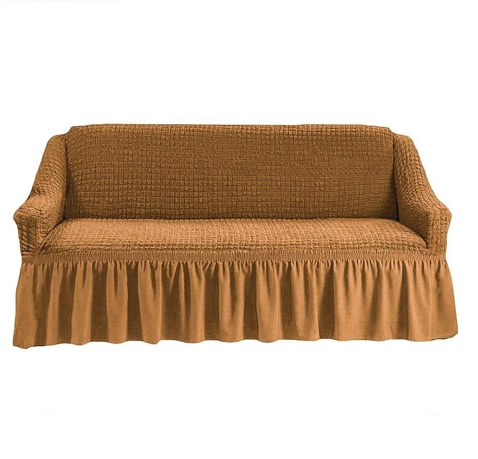 Чехол на 3-х местный диван горчичный