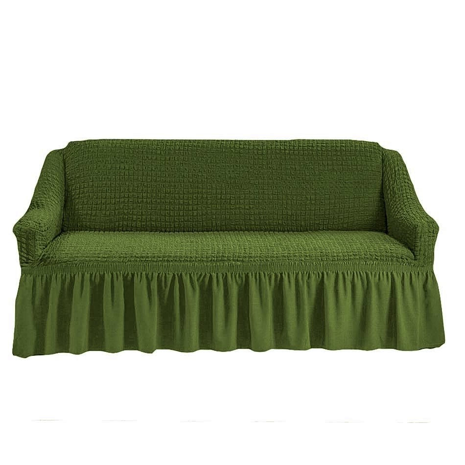 Чехол на 3-х местный диван зеленый