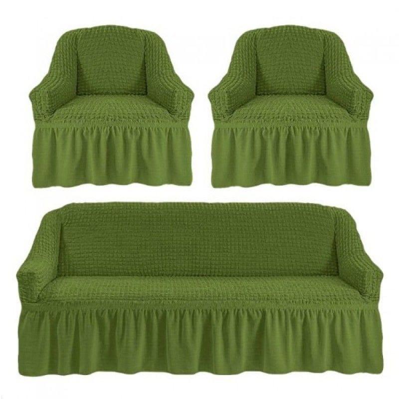 Чехол на 3-х местный диван и два кресла зеленый