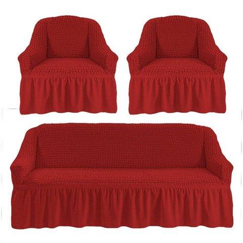 Чехол на 3-х местный диван и два кресла кирпичный