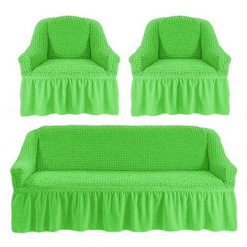 Чехол на 3-х местный диван и два кресла салатовый