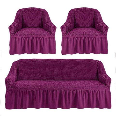 Чехол на 3-х местный диван и два кресла фиолетовый