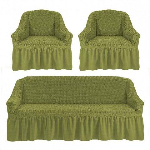 Чехол на 3-х местный диван и два кресла фисташковый
