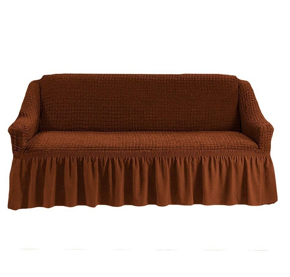 Чехол на 3-х местный диван коричневый