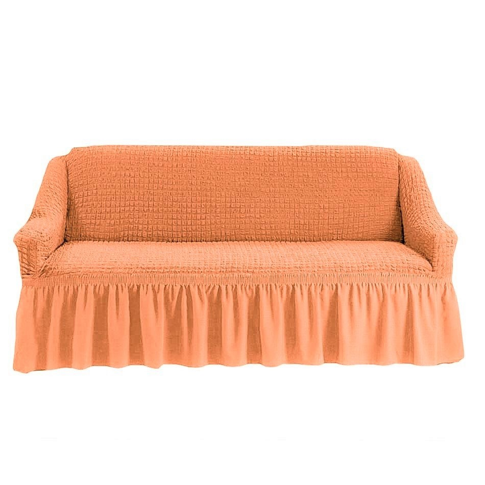 Чехол на 3-х местный диван персиковый