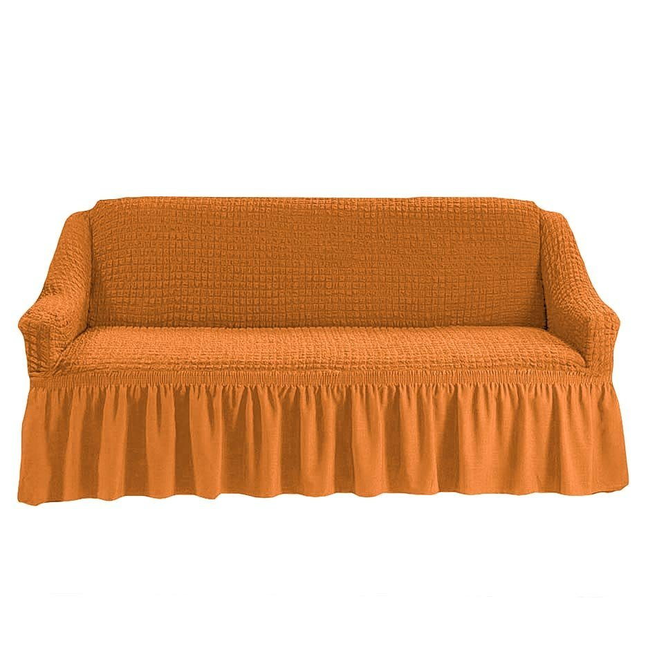 Чехол на 3-х местный диван рыжий
