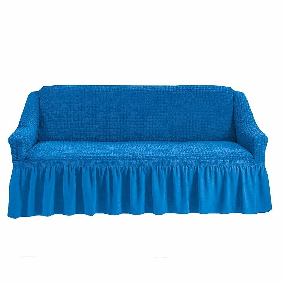 Чехол на 3-х местный диван синий