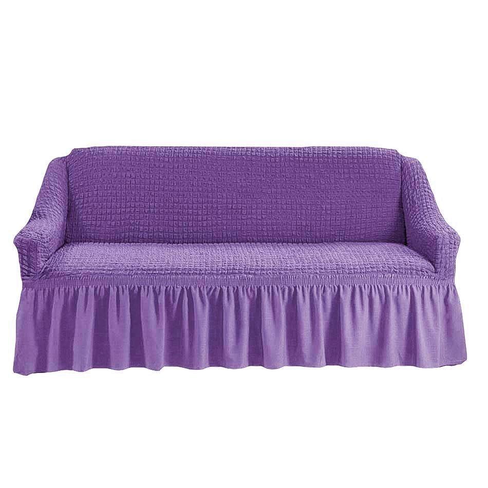 Чехол на 3-х местный диван сиреневый