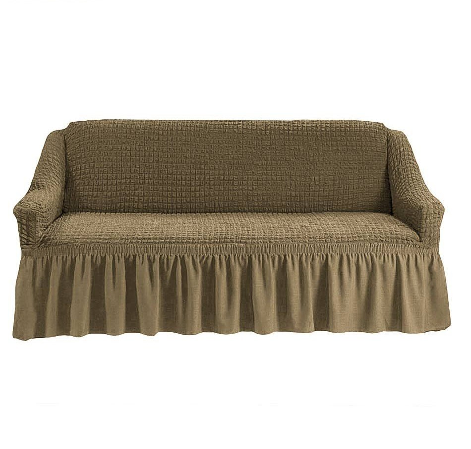 Чехол на 3-х местный диван темно-оливковый
