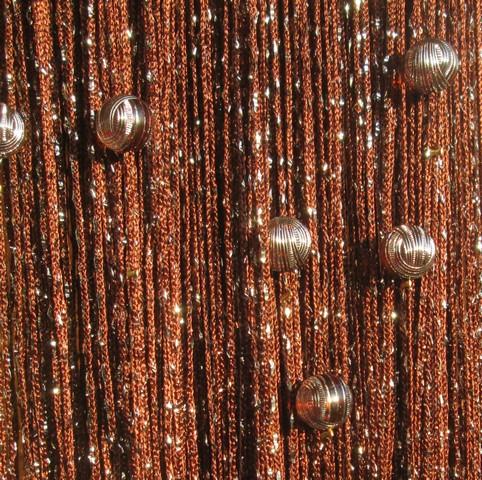 Кисея Дождь однотонная с шарами col 8