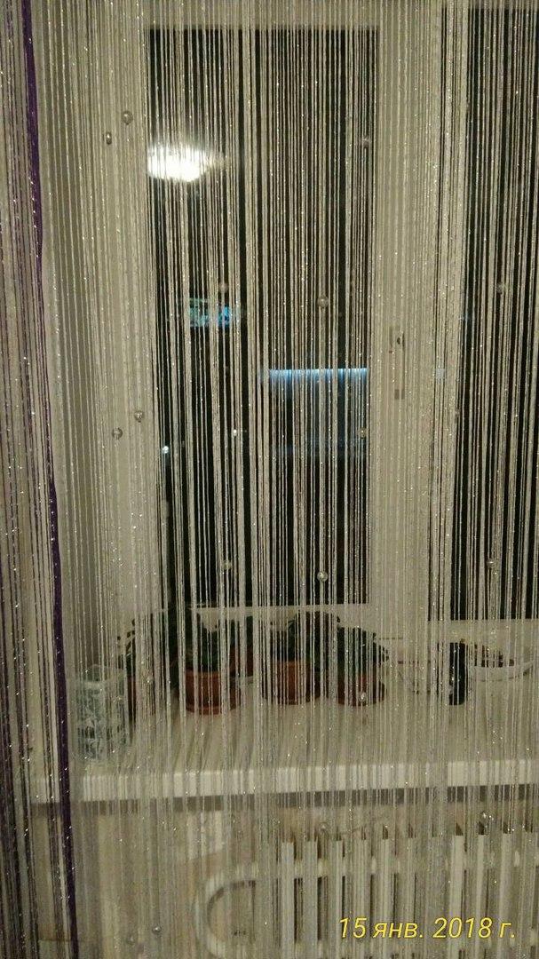 Кисея Дождь однотонный с шарами col 1 в интерьере 8
