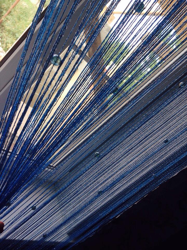 Кисея Дождь однотонный с шарами col 11 в интерьере 1